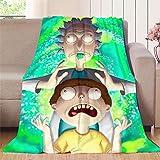 Elliot Dorothy Rick and Morty - Manta de forro polar con diseño de personajes de animación de dibujos animados, suave reversible, microfibra, colorido, 70'x90'(W178cmxL228cm)