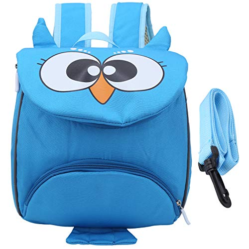 Infant Learning Bag Cartoon Animal for School Travel Shopping Daily Situations for Preschooler(Owl Blue)