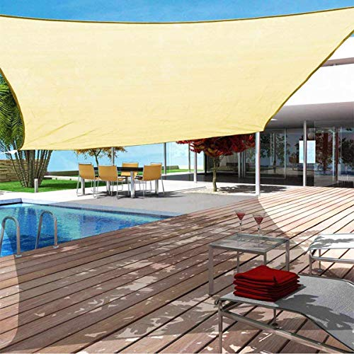 Kupton 6.56' x 10' Sun Shade Sail Rectangle Canopy Awning Sun Cover, 95% UV Block Sunshade Sails, Water & Air Permeable Perfect for Outdoor Patio Balcony Backyard Yard Carpark Swimming Pool Garden