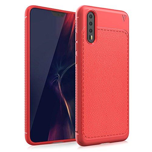Moonmini Custodia Huawei P20 Pro, Cover Huawei P20 Pro, BasicStock Ultra Sottile TPU Silicone Flessibile Protettivo Morbido Cassa Custodia Skin Bumper Case per Huawei P20 Pro (Rosso)