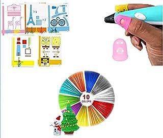 Selfie360 3D Pen Startup Kit - Mega Kit (10 Colour Filament, Finger Cover, 5pcs Stencil)