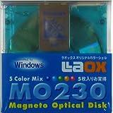 LAOX(ラオックス)230MB MOディスク 5Color Mix 5枚入り Windowsフォーマット済