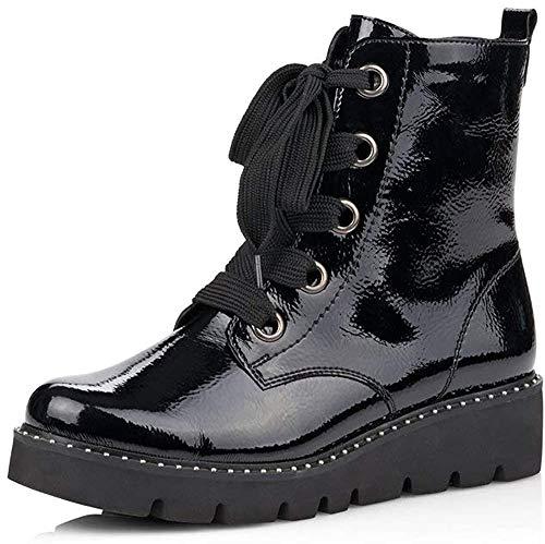Remonte Damen Stiefel, Frauen Schnürstiefel, Boots Combat schnürung Freizeit leger,Schwarz(Black),38 EU / 5 UK