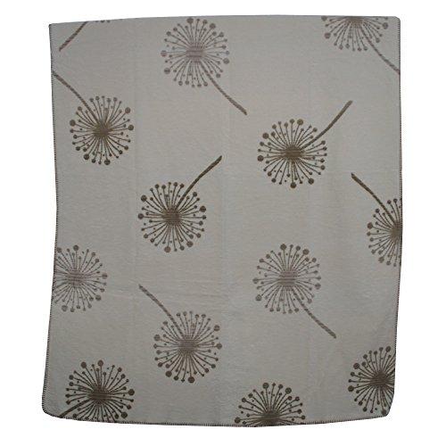 Richter Textilien Decke Pusteblume 150 x 200 cm Bio-Baumwolle Hermelin