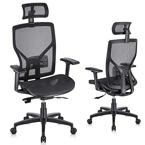 SUNNOW Ergonomic Office Chair Computer Mesh Chair with ...