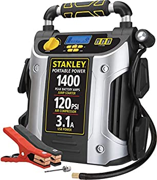 STANLEY J7C09D Digital Portable Power Station Jump Starter  1400/700 Instant Amps 120 PSI Air Compressor 3.1A USB Ports Battery Clamps