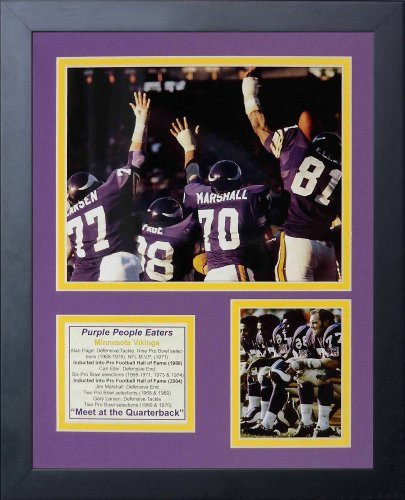Legends Never Die Purple People Eaters Big 4 Framed Photo Collage, 11x14-Inch by Legends Never Die