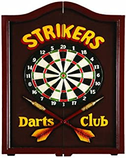 RAM Gameroom Products Dartboard Cabinet, Strikers Darts Club