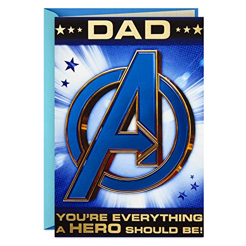Hallmark Avengers Fathers Day Card for Dad (Hulk, Iron Man, Captain America)