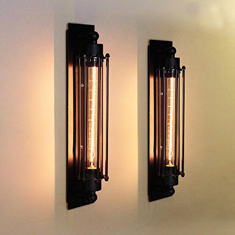StiefelU LED Antike Wandleuchte industrial Wind Wand led Schlafzimmer Verkehrskorridor Bügeleisen Flte Wandleuchten, einzelne schwarze + Edison die Glühbirne, 40W
