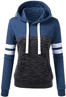 FANGTION Womens Love Long Sleeve Splice Pullover Hoodies Sweatshirt Stitching Tops Blouse