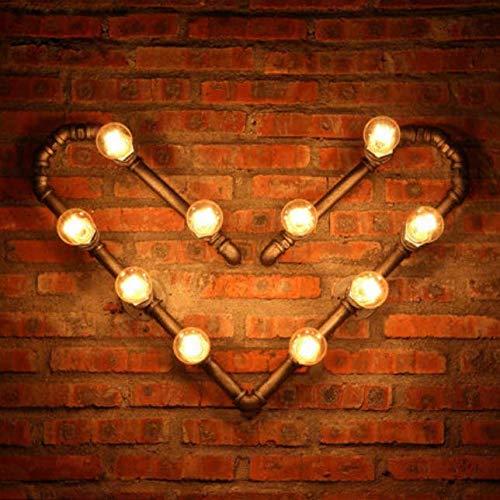 Wandlamp Industrial Style Loft wandlamp wandlamp hart vorm buis lamp smeedijzer vintage wandlamp bar Art Deco verlichting 51 * 80cm