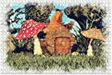 1000 piezas: una casa de hadas junto a setas en la hierba con hiedra de madera DIY Niños educativos Regalo de descompresión para adultos Juegos creativos Juguetes Decoración