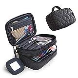 Cosmetics Bolsa de maquillaje de doble capa con espejo belleza brochas de maquillaje bolsas de viaje...