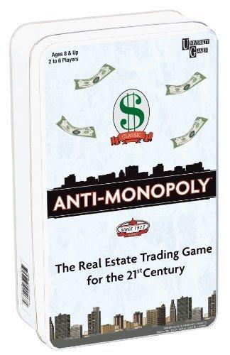 Anti-Monopoly Travel Tin by University Games
