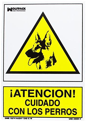 WOLFPACK LINEA PROFESIONAL Cartel Cuidado Con Los Perros 30x21 cm.