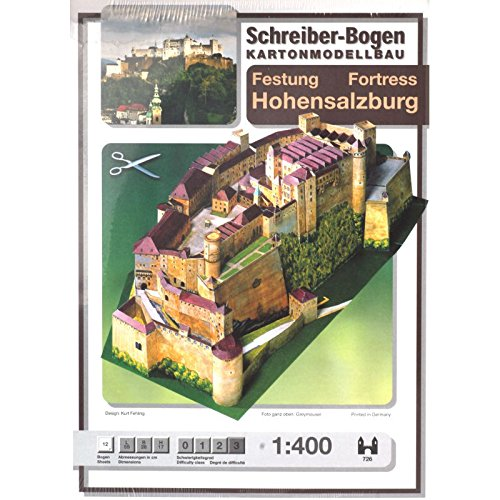 "Aue Verlag Hohensalzburg""-Modellbausatz, 56cm x 26cm x 16cm"