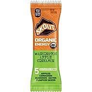 SKOUT Organic Energy Bars - Washington Apple Cinnamon - Vegan Snacks - Plant Based Bars - Non-GMO - Gluten Free, Dairy Free, Soy Free - No Refined Sugar - 1.3 oz (12 Count)
