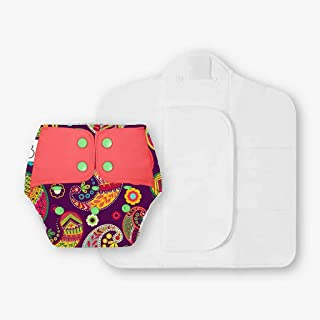 SuperBottoms Freesize UNO - Washable & Reusable Cloth Diaper containing 1 Waterproof Outer + 1 Organic cotton Magic Dry Fe...