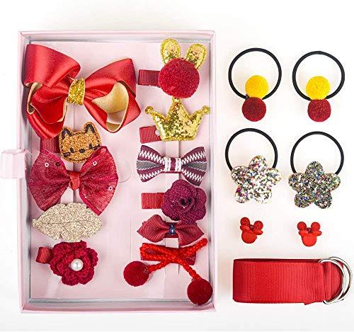Baby-Haarspangen-Set für kleine Mädchen, Haarseile, Haarspangen, Haar-Accessoires für Babys, Mädchen, Kleinkinder, Kinder, als Geschenk zum Geburtstag, zu Weihnachten oder zum Kindertag.