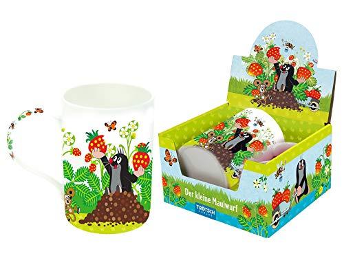 Trötsch Der kleine Maulwurf Lieblingstasse Erdbeere: Aus Porzellan mit Geschenkverpackung