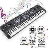 RenFox Clavier Piano 61 Touches Electrique Numérique Piano Clavier Électronique...