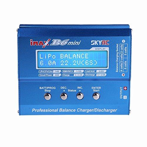 Tenlacum SKYRC iMAX B6 Mini Cargador del Balance Profesional/descargador de RC y Carga de batería (SKYRC iMAX B6 Mini Cargador del Balance)