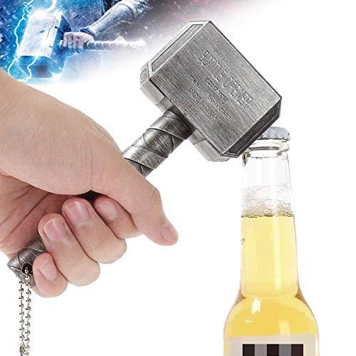 Wikea Marvel Avengers Thors Hammer Flaschenöffner – für Bar/Heimdekoration und Marvel-Liebhaber und Bierliebhaber – End Game & Infinity War Geschenk silber