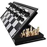 TWS Magnetic Educational Toys Travel Chess Set with Folding Board for Kids and Adults