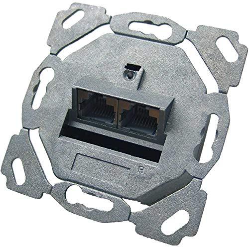 PROTEC.NET - Caja de conexiones (2 conectores RJ45, cat. 6A, hz, PDD6A-4)