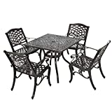 Odena 5-Piece Cast Aluminum Dining Set