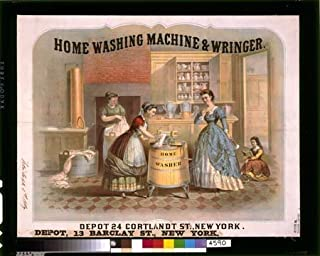 Photo Home washing machine & wringer Add c1900