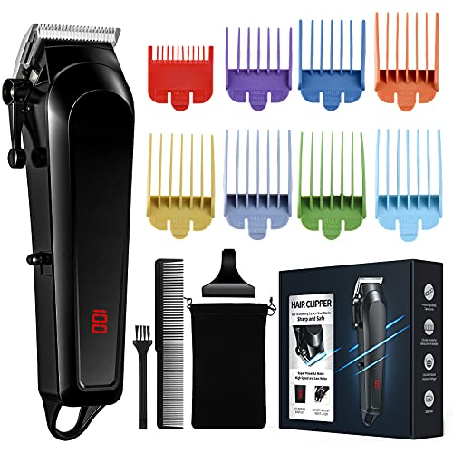 Haarschneidemaschine, Haarschneider für Herren, Bartschneider Friseure, Friseurschneider mit Wiederaufladbarem USB Bartschneider Haartrimmer für Kinder Familie Männer Wiederaufladbar LED Display