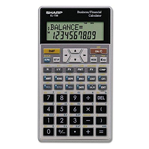 Sharp Advanced Financial Calculator with Scientific Functions (EL-738FB)