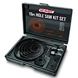 <span class='highlight'>Hi</span>-<span class='highlight'>Spec</span> 16 Piece Hole Saw Kit Set (19–127mm). 12 Blades & 4 Accessories for Cutting Out Holes & Discs in Wood, Plastic, PVC & Drywall. Stored in a Compact Case