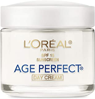 Face Moisturizer With Spf 15 By L'Oreal Paris, Age Perfect Anti-Aging Day Cream With Spf 15 Sunscreen & Soy Seed Proteins, 3.4 Oz