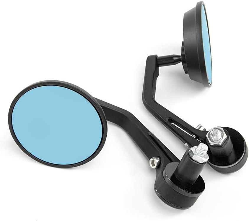 Round Color A Universal Motorike side mirror 7//8 22mm Handlebar End Mirror