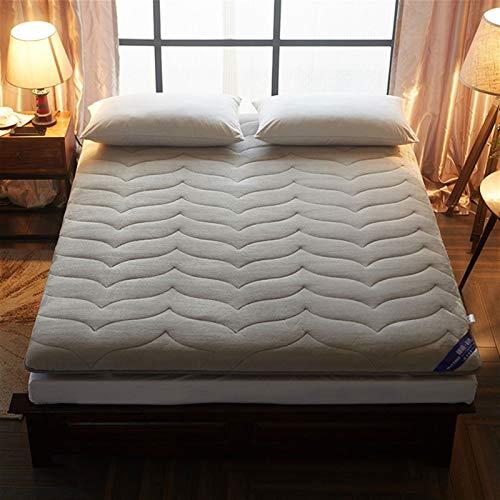 dongyu Colchón plegable de felpa de invierno de 6 cm de grosor, para cama de tamaño Queen / King/Twin/Full Size respirar espuma Tatami colchón (tamaño: 90 x 200 cm, color: gris)