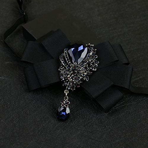 Mijn Droom Dag Elegante Tie Bruiloft Jurk Bow-Knot, Die Begeleid door de Groom Bruiloft Zwarte Wijn Rode Tie Glanzende Mode Mooie Broche Pins Backs