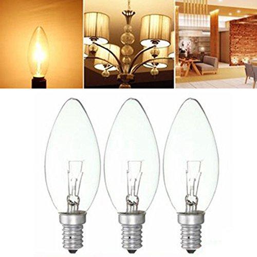 Edison Birne 25W / 40W / 60W E14 Retro Spiralfilamentlampe Kühlschrank Gefrierschrank Elektrische Lampe Warmweiß AC220V Hudson Studio (Color : 60W)