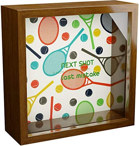 Tennis Gifts A 6x6x2 Themed Shadow Box for Tennis Lovers Tennis Player Coach Keepsake Display product image
