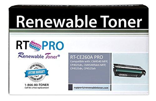 Renewable Toner Compatible Toner Cartridge Replacement for HP CE260A ( Black )