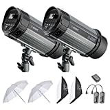 Neewer 500W Studio Strobe Flash Photography Lighting Kit:(2) 250W Monolight,(2) Softbox,(1) RT-16 Wireless Trigger,(2)...