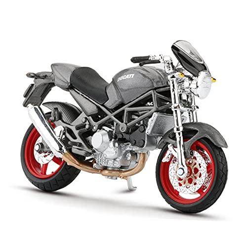 El Maquetas Coche Motocross Fantastico 1:18 para Ducati Monster S4 Retro Simulación Aleación Modelo Motocicleta Todoterreno Colección Motos Regalo Coche De Juguete Regalos Juegos Mas Vendidos