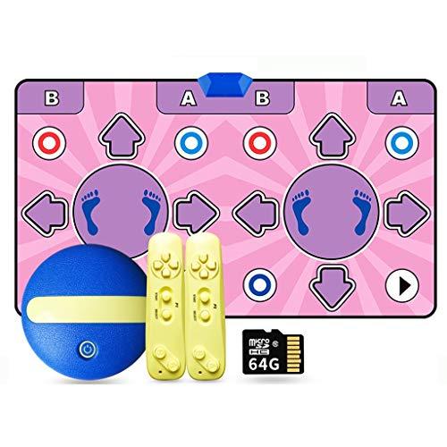 Bonne Isolation Acoustique 64G 11mm HD sans Fil Double Danse Blanket Interface TV somatosensoriel Dance Machine Accueil Perte de Poids Yoga Danse Main Blanket Courir Doux (Color : B)