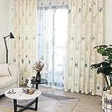 Potenco カーテン 2級遮光 北欧風遮光カーテン 防寒 防音 遮光 断熱 高級感のある生地 (幅100cm×丈178cm, ホワイト)