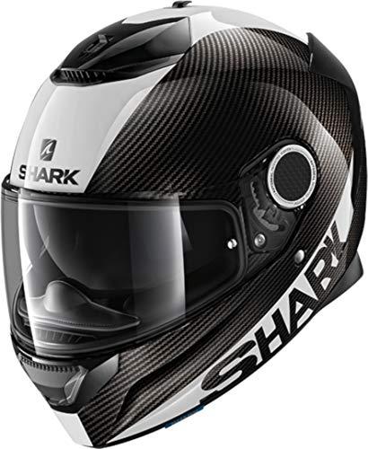 Shark Cascos de motocicleta SPARTAN CARBON 1.2 Piel DWS, Noir/Blanc, M