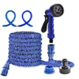 <span class='highlight'>dicn</span> <span class='highlight'>electronic</span> 100ft 30m Water Hosepipe for Garden Magic Hose Pipes Flexible Expandable with Spray Gun Washing Car Window Filling Pool Watering Plants Blue