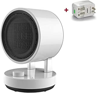 DWLINA Mini Calentador Eléctrico Portátil, Sacudiendo La Cabeza Calentador De Aire Caliente del Ventilador 3 Engranaje Frío/Calor De Viento Caliente Radiador Eléctrico Oficina De Inicio