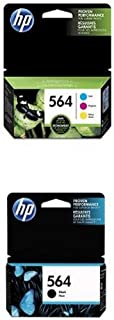 HP 564   Ink Cartridge Bundle   Black, Cyan, Magenta, Yellow   CB316WN, CB318WN, CB319WN, CB320WN